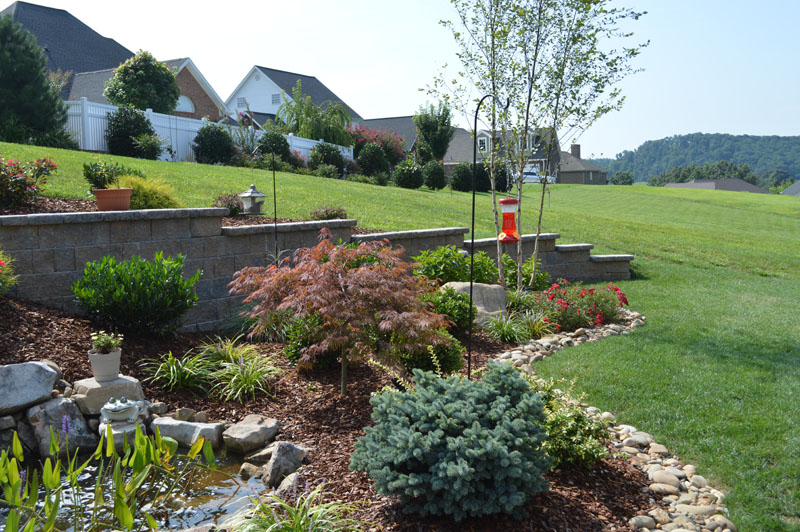 Landscaped Waterfall Area