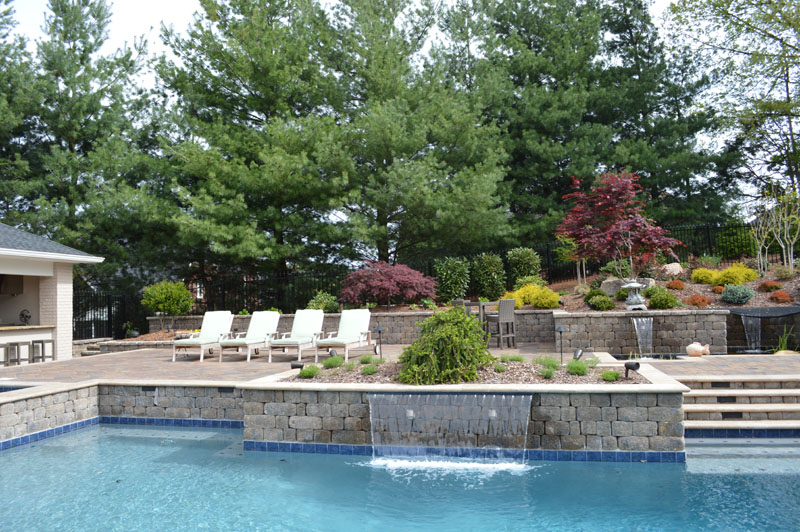 Landscaped Pool Area