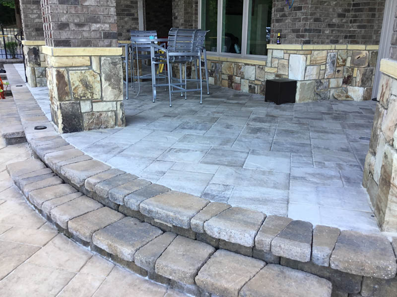 Stone paver patio